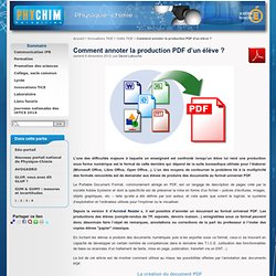 Comment annoter la production PDF d'un élève ?