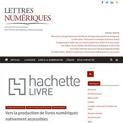 Vers la production de livres numériques nativement accessibles