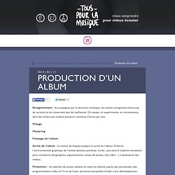 Production d'un album, un long processus