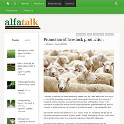 Promotion of livestock production