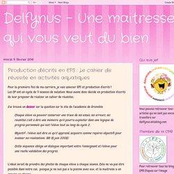 Delfynus - Une maitresse qui vous veut du bien: Production d'écrits en EPS : Le cahier de réussite en activités aquatiques
