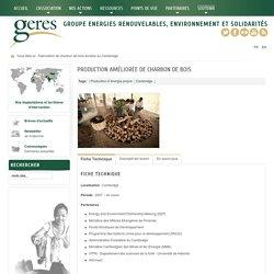 GERES - Production améliorée de charbon de bois