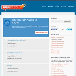 Production audio et radio