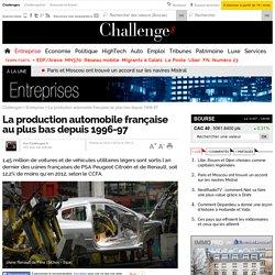 La production automobile française au plus bas depuis 1996-97- 29 janvier 2014