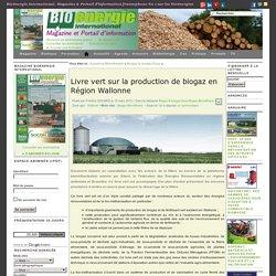 Livre vert sur la production de biogaz en Région Wallonne