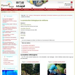 ENS LYON - La production biologique de méthane