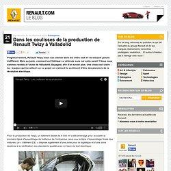 Dans les coulisses de la production de Renault Twizy à Valladolid