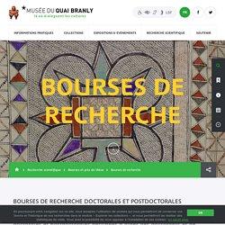 musée du quai Branly - Production - musée du quai Branly - Bourses de recherche