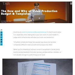 Video Production Budget Templates: The How & Why