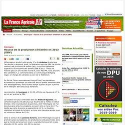 FRANCE AGRICOLE 22/08/13 Allemagne Hausse de la production céréalière en 2013 (DBV)