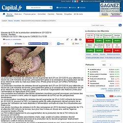 REUTERS 13/06/13 Hausse de 6,5% de la production céréalière en 2013/2014