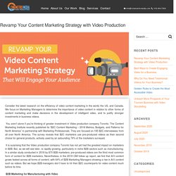 Revamp Your Content Marketing Strategy with Video Production - Video Production Company Toronto - Cinemetrix Media