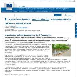 CORDIS 18/10/17 La production d'aliments durables grâce à l'aquaponie