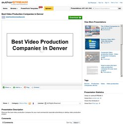 Best Video Production Companies in Denver