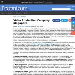 Video Production Company Singapore