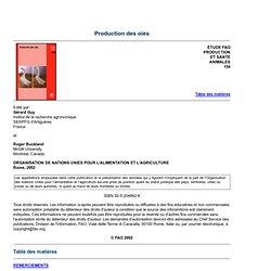 2002 - Production des oies