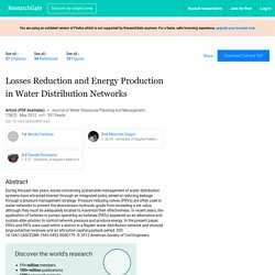Losses Reduction and Energy Production in Water Distribution Networks