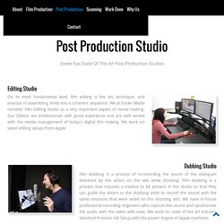 Post Production Studios in India
