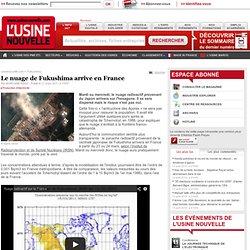 Le nuage de Fukushima arrive en France - Production d'électricité, dont nucléaire