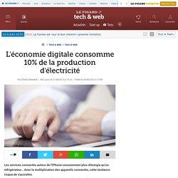 L'économie digitale consomme 10% de la production d'électricité