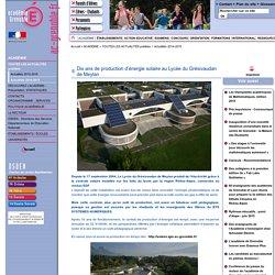 Dix ans de production d'énergie solaire au Lycée du Grésivaudan de Meylan