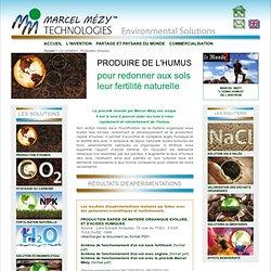 Les solutions - Production d'humus - Solutions environnementales Marcel Mézy