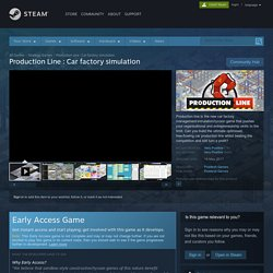Production Line : Car factory simulation on Steam