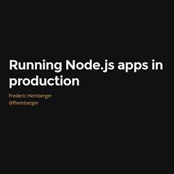 Running Node.js apps in production