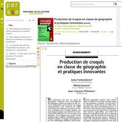 Production de croquis en classe de géographie et pratiques innovantes