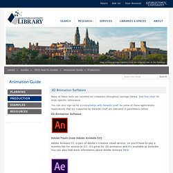 Production - Animation Guide - Guides at Georgetown University