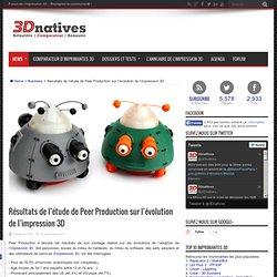 Résultats de l'étude de Peer Production sur l'évolution de l'impression 3D