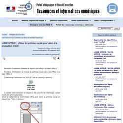 LIBRE OFFICE : Utiliser la synthèse vocale pour aider à la production d'écrit - Ressources et informations TICE