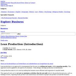 3.4.3 - Lean Production (Introduction)