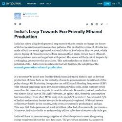 India's Leap Towards Eco-Friendly Ethanol Production: karankumar01