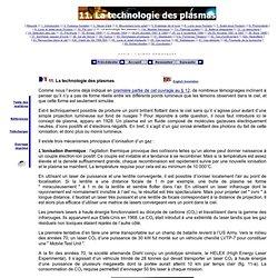 11. Plasmas ionisés : production de leurres lumineux d'origine militaire
