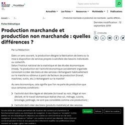 Production marchande et production non marchande