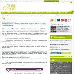Production de contenus : MediaHeroes au secours des blogueurs