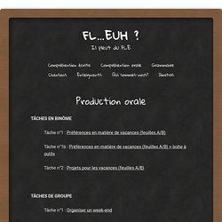 Production orale - FL...euh ?