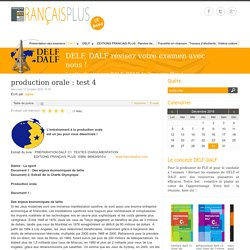 production orale : test 4