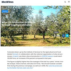 OLIVE OIL TIMES 19/12/19 Olive Oil Production in Italy to Exceed Original Estimates