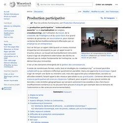Production participative