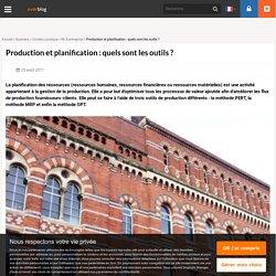 Production et planification: quels sont les outils?