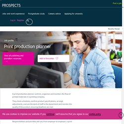 Print production planner job profile