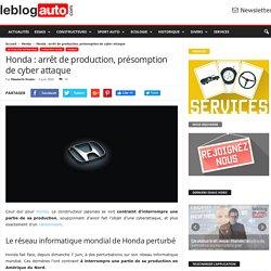 Honda : arrêt de production, présomption de cyber attaque