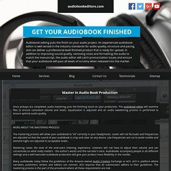 Create Your Own Audiobook - Audiobookeditors.com