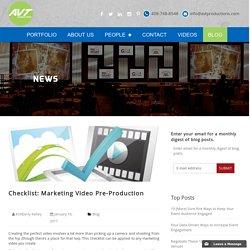 Checklist: Marketing Video Pre-Production