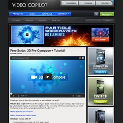 After Effects Tutorials, Plug-ins and Stock Footage for Post Production Professionals