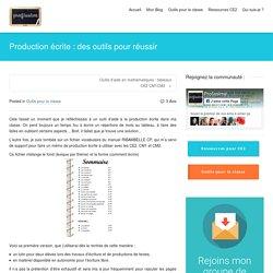 Production écrite : des outils pour réussir - Profissime - Ressources pour la classe