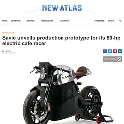 Savic unveils production prototype for its 80-hp electric cafe racer