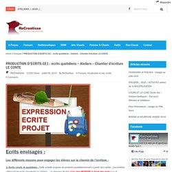 PRODUCTION D'ECRITS CE1 : écrits quotidiens – Ateliers – Chantier d'écriture LE CONTE